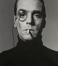 Michel COMTE :: Jeremy Irons with Monocle, London, 1990