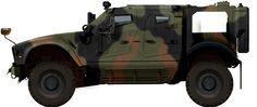 Oshkosh MAT-V in NATO camouflage, US Army's 210th Field Artillery Brigade