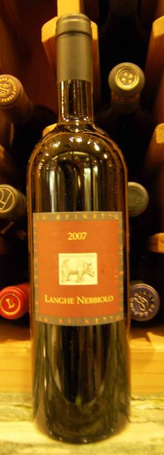 Master Sommelier Eric Entrikin recommends pairing 2007 Langhe Nebbiolo with black truffle risotto with speck.