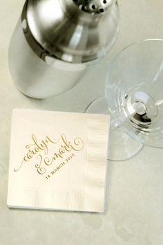 Items similar to Custom Gold Foil Cocktail Napkins - Wedding Reception, Event, Shower - Choose Your Color, Beverage, Drink Size on Etsy Gold Wedding Invitations, Wedding Favors, Wedding Reception, Wedding Ideas, Beverage Napkins, Beverage Drink, Wedding Cocktail Napkins, Custom Napkins, Gold Foil
