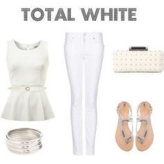 """""""total white"""" by lauritamunoz on Polyvore"""