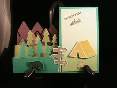 Haley's Birthday Card by susie nelson - Cards and Paper Crafts at Splitcoaststampers.  (Pin#1: Folds... Pin+: Camping...).