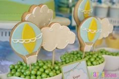 Hot Air Balloon Themed Baby Shower - Spaceships and Laser Beams