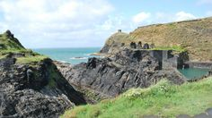 Cliffs and coastline at Abereiddy, Porthgain in Pembrokeshire, Wales, UK