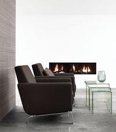 moderne inneneinrichtung schwarze designersessel von boconcept wohnzimmereinrichtung livingroom