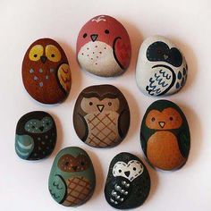 Cute little owl-rock craft, love it!