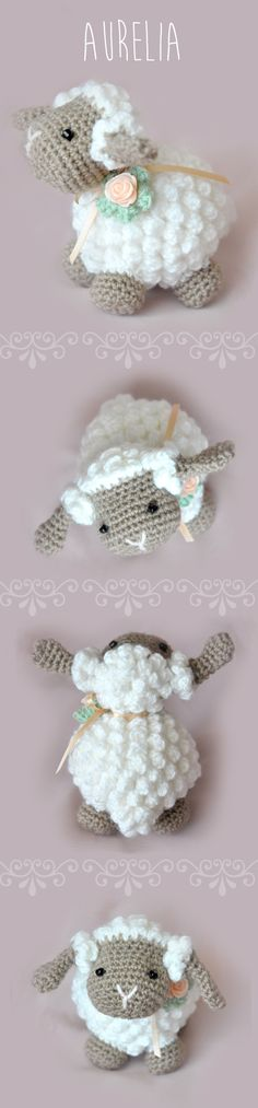 Amigurumi Lamb - FREE Crochet Pattern / Tutorial needs translating Crochet Amigurumi, Amigurumi Patterns, Crochet Dolls, Knitting Patterns, Crochet Patterns, Sewing Patterns, Crochet Sheep Free Pattern, Crocheted Toys, Crochet Stitches