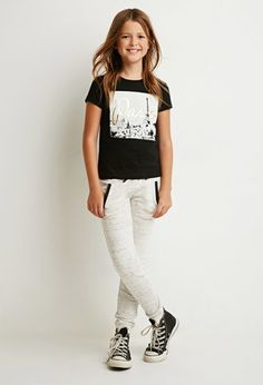 Girls Slub Knit Sweatpants (Kids) | Forever 21 girls - 2000173932