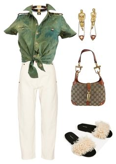 """""""Untitled #1124"""" by lucyshenton ❤ liked on Polyvore featuring Lemaire, Balenciaga and Gucci"""