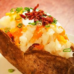 A double baked potato recipe with all the fixins.. Double Baked Potato Recipe from Grandmothers Kitchen.