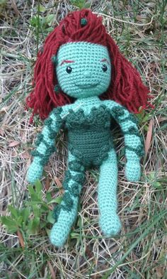 Poison Ivy crochet amigurumi inspired by DC comics