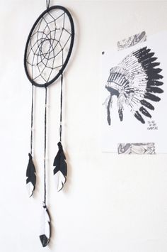 Cute Minimalist Dream Catcher! For the Nursery / baby's room - pinned by pin4etsy.com