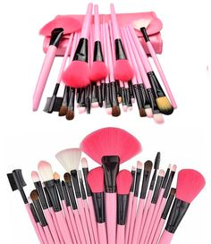 24 Piece Professional Pink Glory Makeup Brush Set - Overstock Clearance - SAVE 90% - Only $19.99 Hurry, Before it's all gone!