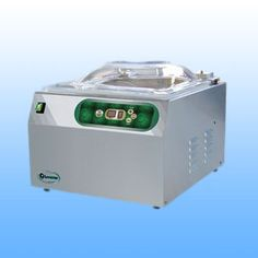 Stolne vakumirke sa komorom  EPA OPTIMA -dimenzije: 420x530x400 -dimenzije komore: 360x400x190 -širina varilice: 350 mm -vakum pumpa: Q= 10 m3/h -težina: 40 kg -napajanje: 230 V/50 Hz  -materijal: inox