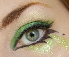 bold liner & glitter - ooh, this could go nicely with a butterfly costume