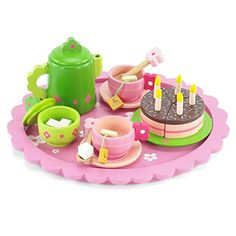 """18 Inch Dolls Accessories Fits American Girl - 18\"""" Doll Wooden Tea Party and Cake Play Dessert Food Set (28 pieces) >>> Read more  at the image link."""