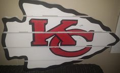 Kansas City Chiefs sign made from recycled by MonicasFavThings