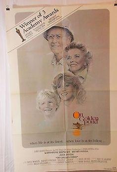 On Golden Pond 1981 Movie Poster Henry Fonda Katharine Hepburn Jane Fonda
