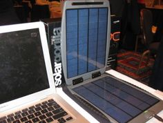 The SolarGorilla Portable Laptop Charger allows tech-geeks/eco-nerds to power their laptops, cell phones, and even portable DVD players with the sun.