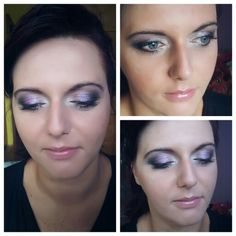 Glam violet and gold makeup