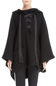 Main Image - Chloé Tie Front Hooded Cape