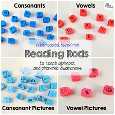 Reading Rods, Word Builders, Alphabet and Phonemic Awareness Linking Cubes for Early Reading & Word Work (Set of Auditory Learning, Learning Resources, Teaching The Alphabet, Teaching Phonics, Spelling Activities, Group Activities, Literacy Stations, Literacy Centers, Sentence Building