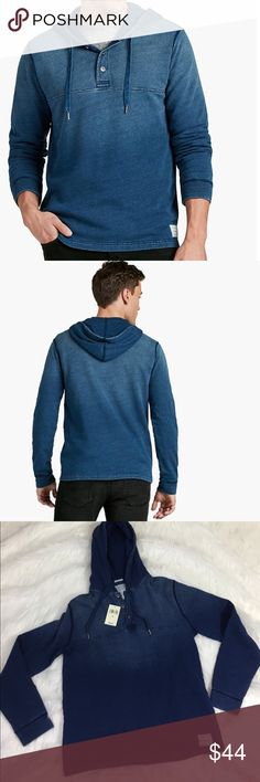 Lucky Brand true indigo men's Henley size M Great looking Men's Henley from Lucky Brand.  new with tags, Lucky gray label. Lucky Brand Shirts Sweatshirts & Hoodies