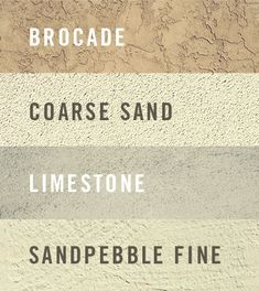 Redoing the stucco on your homes exterior? Check out these different styles! Stucco Exterior, Paving Stones, Home Remodeling, Concrete, Homes, Check, Houses, Home, Flooring
