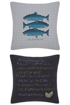 Catch Of The Day Print Cushion