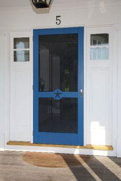 Wooden Screen Storm Door 031 Custom Screen Doors, Wooden Screen, Adirondack Chairs, Shutters, Interior And Exterior, Tall Cabinet Storage, Garage Doors, Gallery, Outdoor Decor