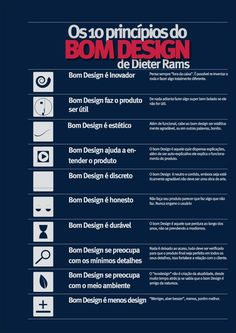 Princípios do Design por Dieter Rams Dieter Rams, Design Thinking, Graphisches Design, Graphic Design, Blog Design, Create Logo, Logo Branding, Branding Design, Design Theory