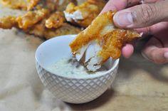 Gluten-Free Beer Batter-Fried Fish Sticks using Cassava-Flour, fish ...