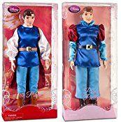 Disney Store 10 Disney Princes 12″ Classic Doll Toy Collection Gift Set Including Prince Eric, Flynn Rider, The Beast, Prince Charming, The Prince, Prince Phillip, Prince Ali Ababwa (Aladdin), Prince Naveen, Captain John Smith and Li Shang Dolls