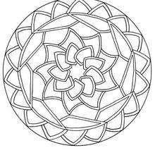 Round Mandala coloring page - Coloring page - MANDALA coloring pages - Mandalas for BEGINNERS