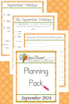 Year Round Homeschooling September Planning Pack - By Year Round Homeschooling