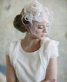 Birdcage/Fascinator Styled Bridal Veil**** More