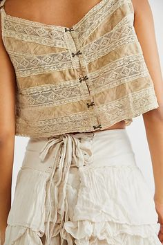Angelique Set | Free People UK Magnolia Pearl, Vintage Fabrics, Crop Tank, Lace Shorts, Vintage Inspired, Midi Skirt, Lace Up, Style Inspiration, Skirts