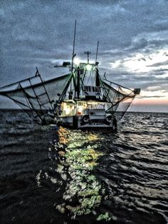 Shrimp boat ~ 'Worked' on brother-in-law's boat starting @ age 15.  Hard, but priceless memories star gazing, waiting to 'sea' what treasures the nets would bring.  Totally Forrest Gump...ahhh! @Lori Cline Doherty