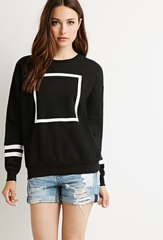 Square Graphic Sweatshirt | Forever 21 - 2000154579