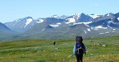 Hiking in the summer. Photo: Jörgen Naalisvaara