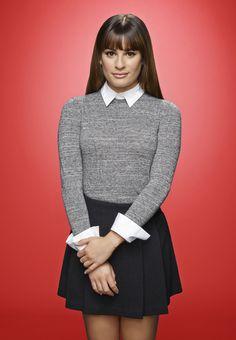 Lea Michele as Rachel on the sixth and final season of GLEE