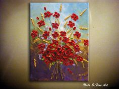 Original Abstract Wildflower Bouquet by NataSgallery on Etsy, $200.00