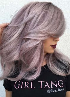 2017 Layered Haircuts and Hairstyles for Long Hair - New .- 2017 Layered Haircuts and Hairstyles for Long Hair hairstyles # 2017 - Lavender Hair, Lilac Hair, Purple Blonde Hair, Hair Color And Cut, Cool Hair Color, Hair Colors, Blond Rose, Hair Shows, Layered Haircuts