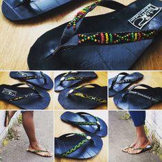 Paso hacia fuera en estilo este verano con mano con cuentas neumático chanclas de Sista London hechas de neumáticos de caucho reutilizado. El Pirelli es del mundo de la zapatilla - ninguna punción! Durable y ética. Producto de Ghana.