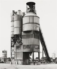 BERND & HILLA BECHER  Krefeldn Hafen, 1979 Bernd Und Hilla Becher, Asphalt Plant, Industrial Architecture, Industrial Photography, Building Art, Water Tower, Industrial Revolution, Brutalist, Abandoned Places