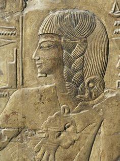 Thebes, Luxor, Valle de los Reyes, relieve del corredor. Tumba de Seti I
