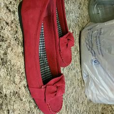 Red Flat Never Worn Nice Red Flat No Call Shoes Flats & Loafers