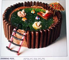 Kids Birthday Cakes The Famous Swimming Pool Cake From Original 1980 Womens Weekly Book