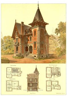 Neat Details of Victorian Architecture. You never really get to see floor plans  of these beauties.  The post  Details of Victorian Architecture. You never really get to see floor plans  of  ..