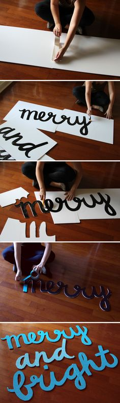 Make This: Merry & Bright Holiday Wall Art DIY | Paper & Stitch